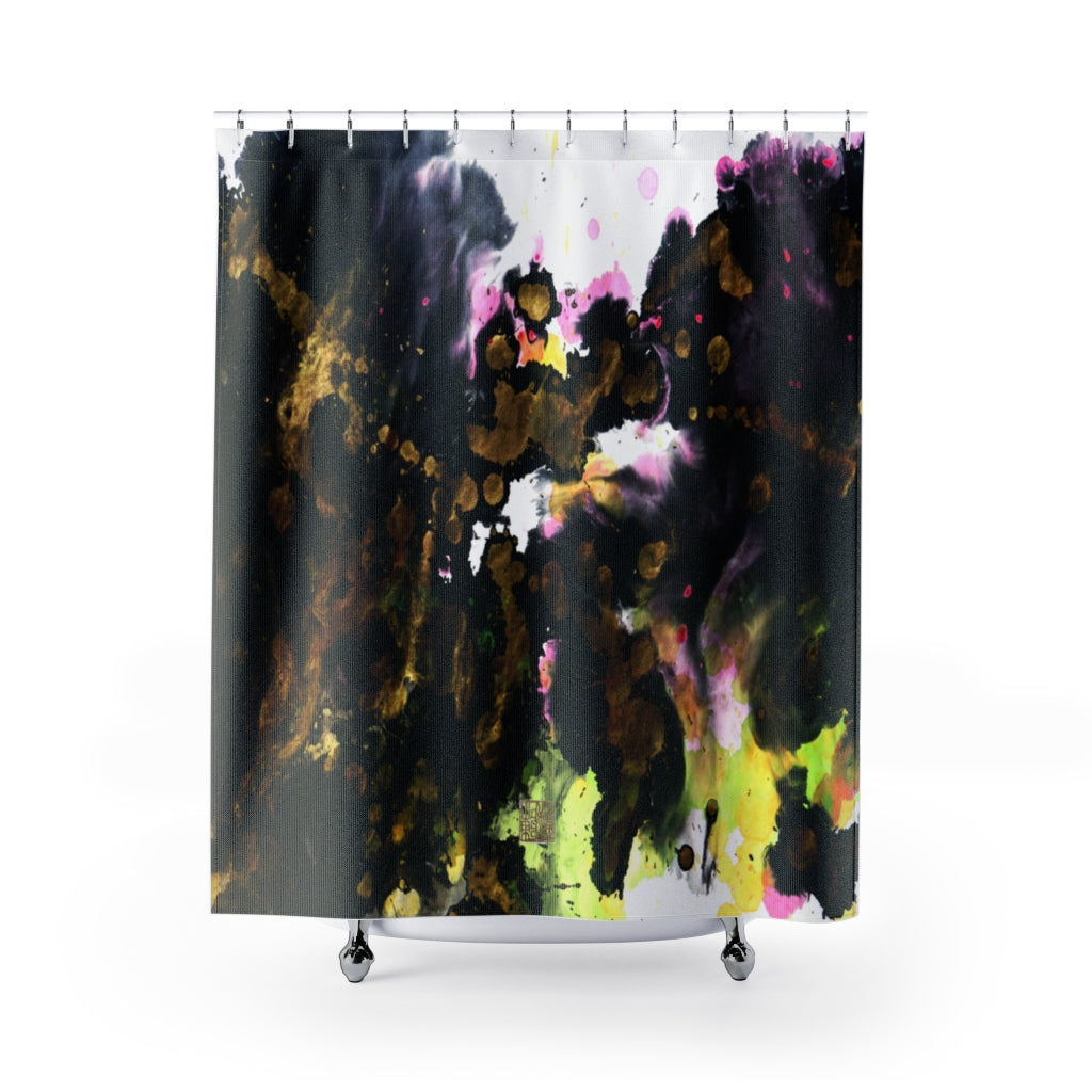 "Abstract Art Shower Curtains, Modern Chinese Polyester Bathroom Curtains-Printed in USA Abstract Art Shower Curtains, Modern Chinese Polyester 71"" x 74"" Bathroom Curtains-Printed in USA, Long Hookless Shower Curtains, Abstract Shower Curtains For Almost Any Popular Bathroom Decor, Modern Shower Curtains, Watercolor Shower Curtains"