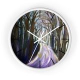 "Purple Hiking Trail, 10"" Diameter PNW Fine Art Wooden Modern Large Wall Clock, Made in USA - alicechanart"