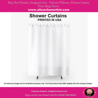 Tram Art Shower Curtains, Transportation Art Polyester Bathroom Curtains-Printed in USA