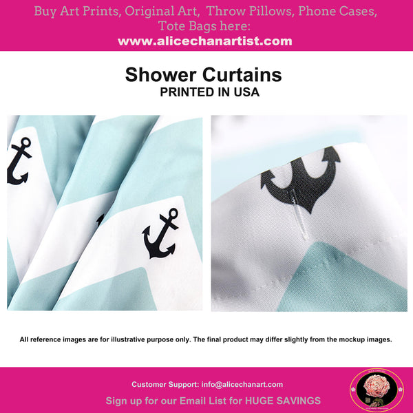 Abstract Art Shower Curtains, Modern Chinese Polyester Bathroom Curtains-Printed in USA
