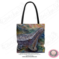 Honey Badger in Search of Bee Larvar Art Square Polyester Tote Bag - Made in USA - alicechanart
