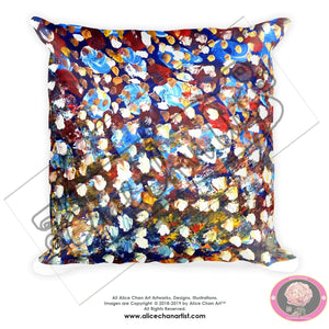 """Matrix Galaxy Dotted Painting"", Abstract Dots Basic Modern Fine Art Pillow, Made in USA - alicechanart"