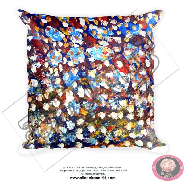 "Matrix Galaxy Colorful Abstract 18""x18"", 20""x12"" Fine Art Throw Pillow, Machine Washable, Made in USA, Multicolor Dot Modern Soft Cushion"