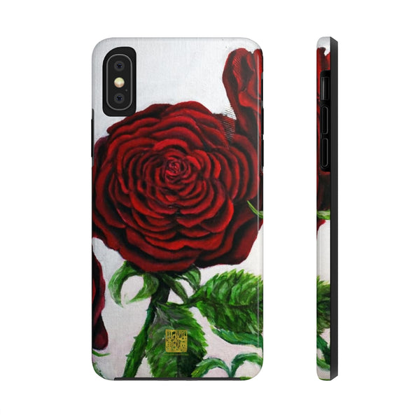 Red Roses Art iPhone Case, Case Mate Tough Samsung or Phone Cases-Made in USA