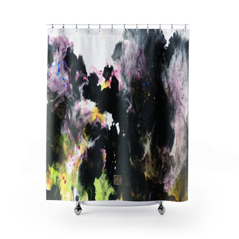 "Abstract Chinese Art Shower Curtains, Galaxy Art Shower Curtains, Galaxy Chinese Art Shower Curtains, Contemporary Art Shower Curtains, Abstract Art Shower Curtains, Modern Chinese Polyester 71"" x 74"" Bathroom Curtains-Printed in USA, Long Hookless Shower Curtains, Abstract Shower Curtains For Almost Any Popular Bathroom Decor, Modern Shower Curtains, Watercolor Shower Curtains"