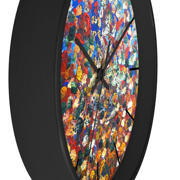 Raindrops 2/3 Designer Abstract Artistic Dotted  10 inch Wall Clock - Made in USA - alicechanart