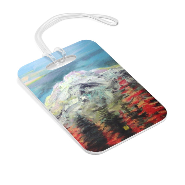 """Mount Rainier in Blue Sky"", Mountain PNW Pacific Northwest Cascades, Glossy Lightweight Plastic Bag Tag, Made in USA"