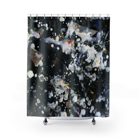 "Grey Abstract Shower Curtains, Silver Galaxy Shower Curtains, Abstract Chinese Art Shower Curtains, Galaxy Art Shower Curtains, Galaxy Chinese Art Shower Curtains, Contemporary Art Shower Curtains, Abstract Art Shower Curtains, Modern Chinese Polyester 71"" x 74"" Bathroom Curtains-Printed in USA, Long Hookless Shower Curtains, Abstract Shower Curtains For Almost Any Popular Bathroom Decor, Modern Shower Curtains, Watercolor Shower Curtains"