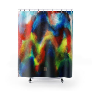 "Colorful Mountains Shower Curtains, Abstract Chinese Art Shower Curtains, ""The Light At The End Of The Tunnel"", Galaxy Art Shower Curtains, Galaxy Chinese Art Shower Curtains, Contemporary Art Shower Curtains, Abstract Art Shower Curtains, Modern Chinese Polyester 71"" x 74"" Bathroom Curtains-Printed in USA, Long Hookless Shower Curtains, Abstract Shower Curtains For Almost Any Popular Bathroom Decor, Modern Shower Curtains, Watercolor Shower Curtains"