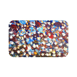 """Raindrops 1/3"", Abstract Colorful Print Art Microfiber Anti-Slip Bath Mat-Printed in USA - alicechanart"