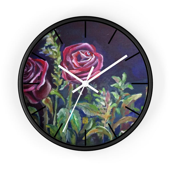 Chan, A Chinese Last Name, Happy Face 10 inch Dia. Wall Clock- Made in USAVampire Red Rose Floral 10 inch Modern Girlie Wall Clock - Made in USA