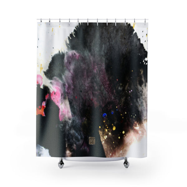 "Abstract Chinese Art Shower Curtains, ""The Light At The End Of The Tunnel"", Galaxy Art Shower Curtains, Galaxy Chinese Art Shower Curtains, Contemporary Art Shower Curtains, Abstract Art Shower Curtains, Modern Chinese Polyester 71"" x 74"" Bathroom Curtains-Printed in USA, Long Hookless Shower Curtains, Abstract Shower Curtains For Almost Any Popular Bathroom Decor, Modern Shower Curtains, Watercolor Shower Curtains"