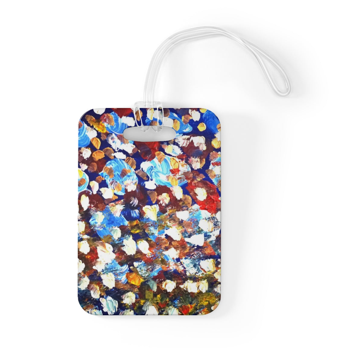 """Raindrops 1/3"", Abstract Art, Glossy Lightweight Plastic Bag Tag, Made in USA - alicechanart"