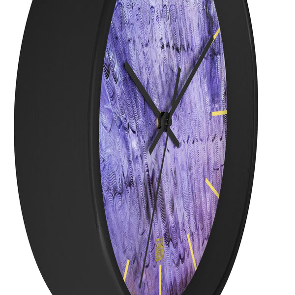 Purple Mystery Pattern, 10 inch Dia. Abstract Art Unique Wall Clock - Made in USA - alicechanart