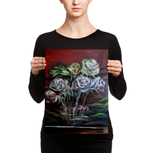 """Ghost Roses"", Floral Rose Flower, Canvas Art Print, Rose Flower Fine Art, Made in USA - alicechanart Rose Canvas Art Print, Ghost Roses"", ""Ghost Roses"", Floral Rose Flower, Canvas Art Print, Rose Flower Fine Art, Made in USA/EU"