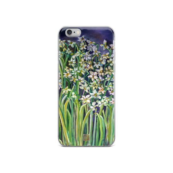 Narcissus Water Lilies, Floral Art Premium Designer Flower iPhone Case, Made in USA/ EU - alicechanart