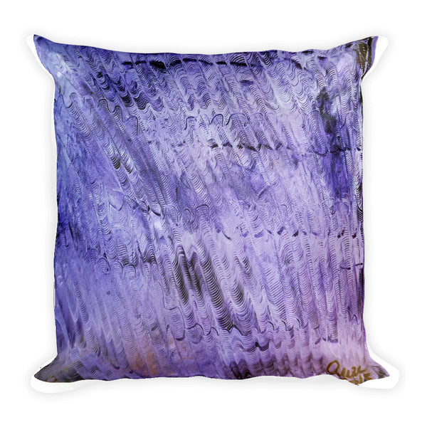 """Purple Mystery Pattern"",  Abstract Modern Art Throw Toss Basic Pillow 18""x18""/ 20""x12"", Made in USA"