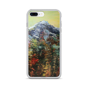 """Mountain Rainier in Yellow Sky"", iPhone 7/6/7+/ 6/6s/ X/XS/ XS Max/XR Case, Made in USA - alicechanart"