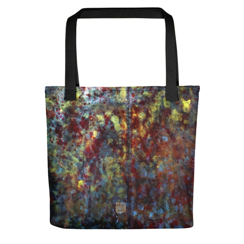 Milky Way Galaxy Abstract Chinese Ink Art Print Designer Tote Bag- Made in USA/ EU - alicechanart