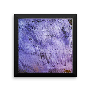 """Purple Mystery Pattern"", Framed Photo Paper Poster, Made in USA - alicechanart"