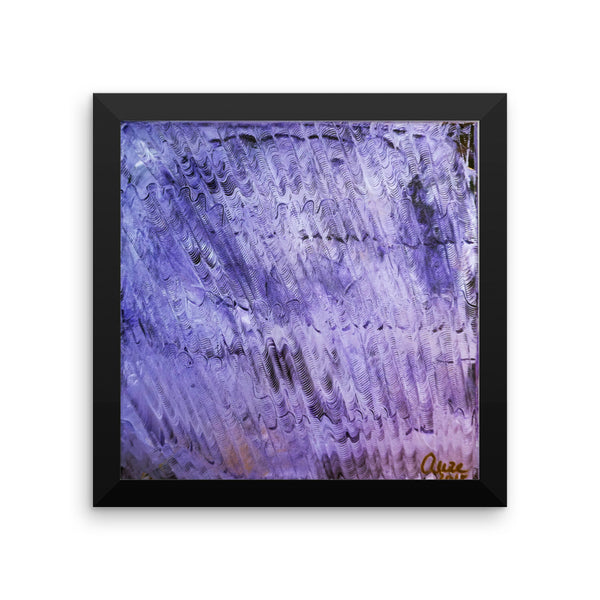 """Purple Mystery Pattern"", Framed Photo Paper Poster, Purple Abstract Art, Made in USA ""Purple Mystery Pattern"", Framed Photo Paper Poster, Made in USA"