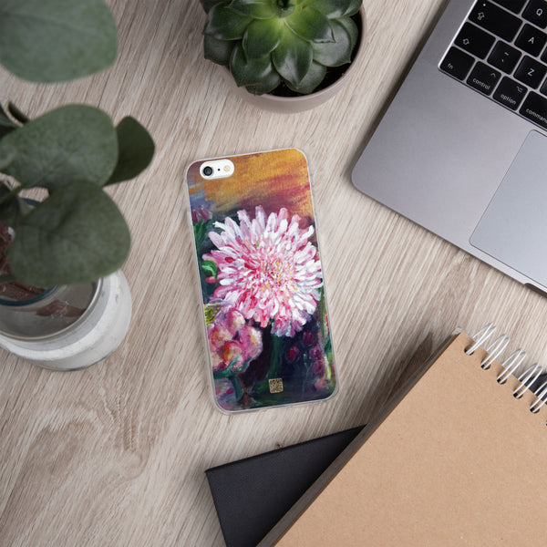 Pink Flowers Floating on the Lake, iPhone 7/6/7+/ 6/6s/ X/XS/ XS Max/XR Case, Made in USA