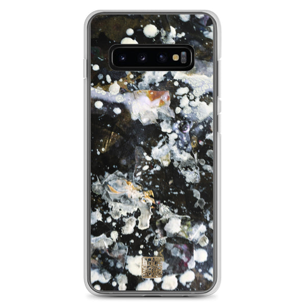 The Silver Galaxy of Life's Forces, Abstract Art Print Samsung Phone Case-Made in USA/ EU - alicechanart