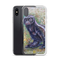 """Jambo - Honey Badger,"" Cute Animal iPhone Case, Printed in USA - alicechanart"