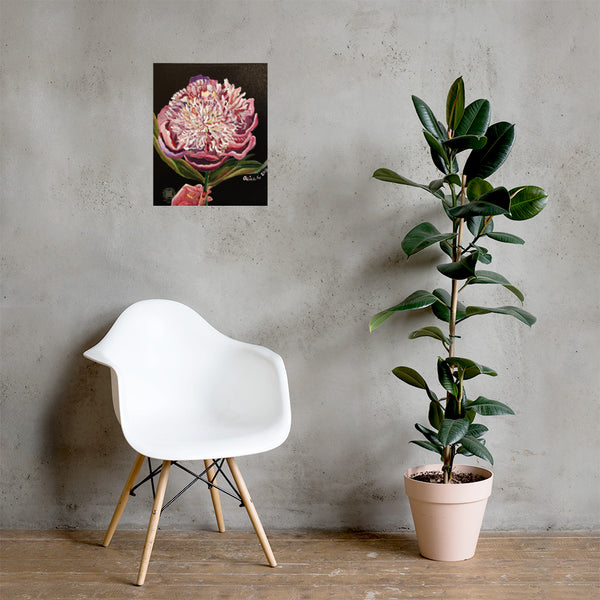 Chinese Peony Hybrid, 2018, Floral Print, Chinese Peonies Floral Print Art Poster- Made in USA/EU - alicechanart