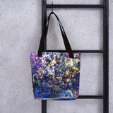 Purple Galaxy Space Abstract Print Designer Art Print Market Tote Bag, Made in USA/ EU - alicechanart