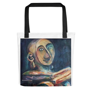 """African Sculpture"", 15""x15"" Designer Art Canvas Designer Tote Bag, Made in USA/ EU - alicechanart"