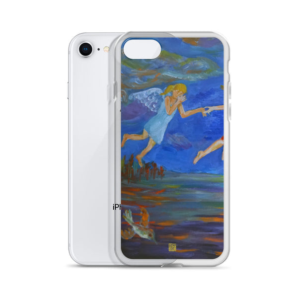 Angels From Heaven, iPhone 7/6/7+/ 6 / 6s/ X/XS/ XS Max/XR Phone Case, Made in USA - alicechanart
