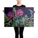 Vampire Roses Floral Red Rose Canvas Art Print, Made In USA - alicechanart