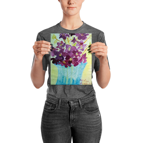 """Curious Exotic Wild Purple Orchids"" Floral Poster Art Print, Made in USA - alicechanart"