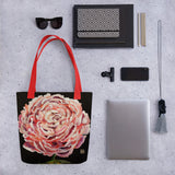 Chinese Peony Floral Art Print Tote Bag- Made in USA/ EU - alicechanart