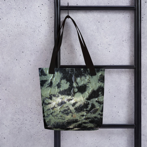 Black Abstract Chinese Ink Asian Contemporary Designer Art Tote Bag- Made in USA/ EU - alicechanart