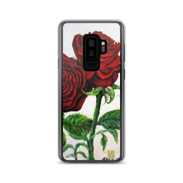Triple Red Roses, Samsung Galaxy S7, S7 Edge, S8, S8+, S9, S9+ Phone Case, Made in USA - alicechanart