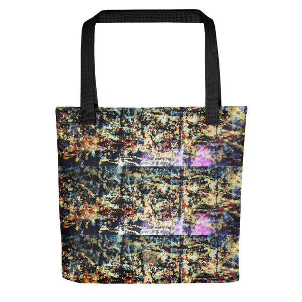 Chinese Ink Golden Supreme Galaxy Print Abstract Art Tote Bag- Made in USA/ EU - alicechanart