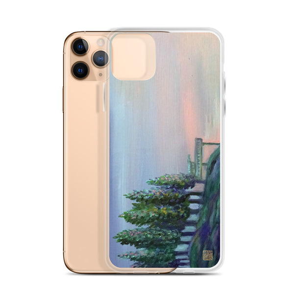 West Seattle Peaceful Mountain Lake Landscape Print, iPhone Case- Made in USA/ EU - alicechanart