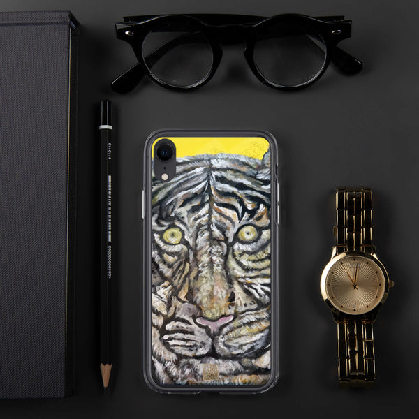 Orange-Eyed White Bengal Tiger, iPhone 7/6/7+/ 6/6s/ X/XS/ XS Max/XR Case, Made in USA - alicechanart