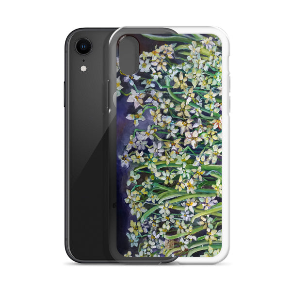 Narcissus Water Lilies, Floral Art Designer Lily Daffodils iPhone Case, Made in USA/ EU - alicechanart