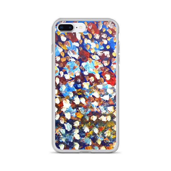 """Raindrops 1/3"", Abstract Colorful Art Print iPhone Cell Phone Case, Made in USA - alicechanart"