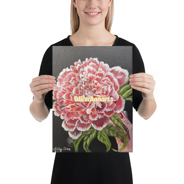 Red Chinese Peony, Canvas Art Print, 2019, Made in USA