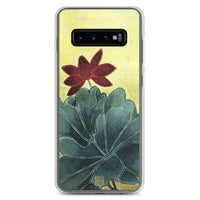 Lotus Floral Samsung Case, Eternally Blissful Flower Print Art Designer Samsung Galaxy S7, S7 Edge, S8, S8+, S9, S9+, S10, S10+, S10e Cell Phone Case, Made in USA/EU