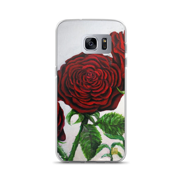 Romantic Red Roses, Samsung Galaxy S7, S7 Edge, S8, S8+, S9, S9+ Phone Case, Made in USA - alicechanart