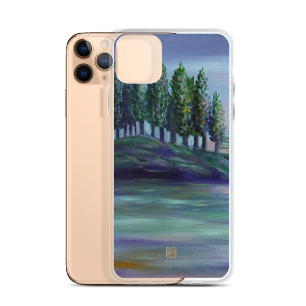 Pastel Purple West Seattle Landscape Print, iPhone Phone Case, Made in USA/ EU - alicechanart