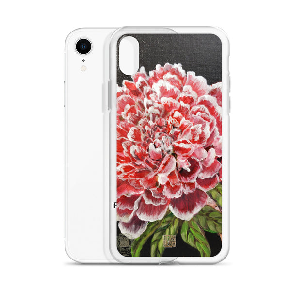 "Red Peony Phone Case, ""Red Chinese Peony"", 2018, Floral Designer iPhone Case, Made in USA/EU - alicechanart"