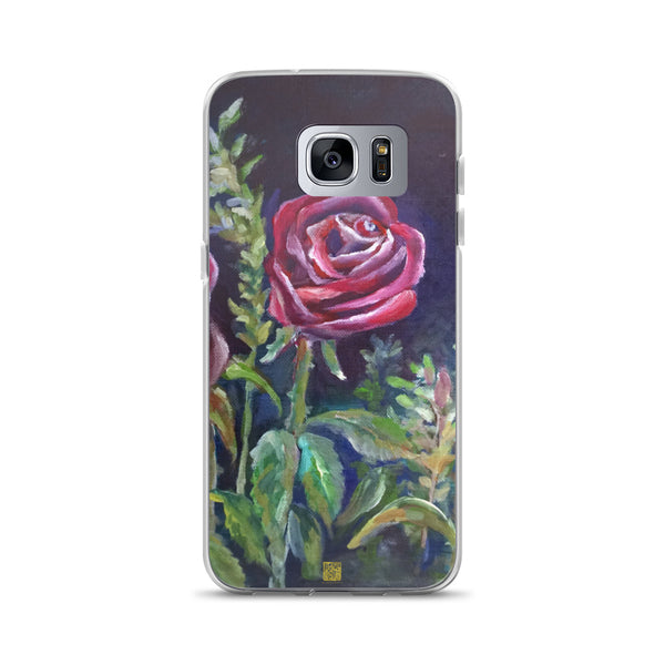 Mysterious Vampire Red Rose Floral, Samsung Galaxy Phone Case, Made in USA - alicechanart