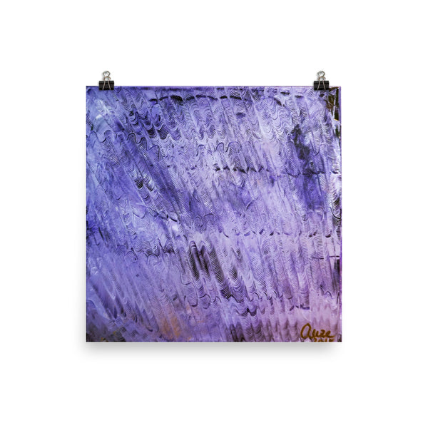 "Purple Mystery Pattern Poster Art Print, Abstract Art - Made in USA Purple Mystery 12""x12"" or Prints, Abstract Acrylic Painting Mounted Canvas, Wave Pattern, Contemporary Room Wall Decor,Abstract Art Print Purple Mystery Pattern Poster Art Print - Made in USA"