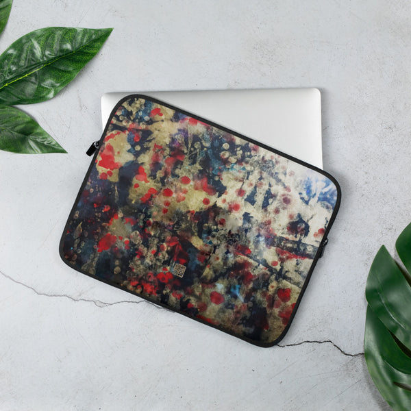 Orchestra of Life 2 of 3, Contemporary Chinese Art Abstract Laptop Sleeve - 15 in/ 13 in-Printed in USA/ Europe